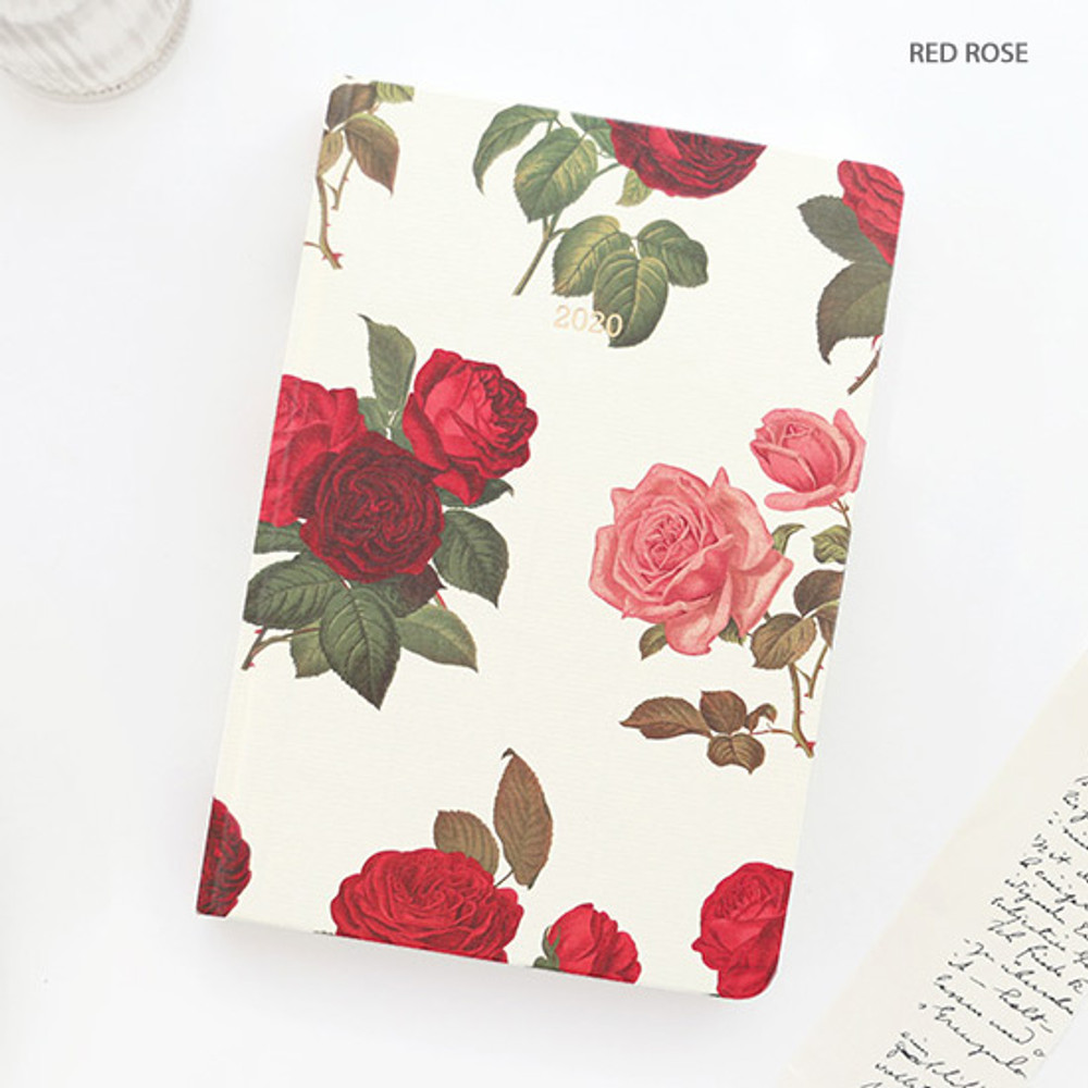 Red rose - PAPERIAN 2020 Florence hardcover daily agenda planner