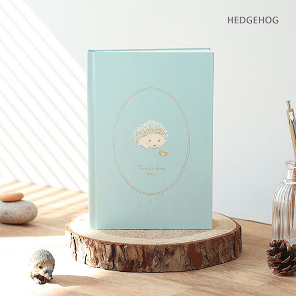 Hedgehog - PAPERIAN From the forest dateless weekly diary planner