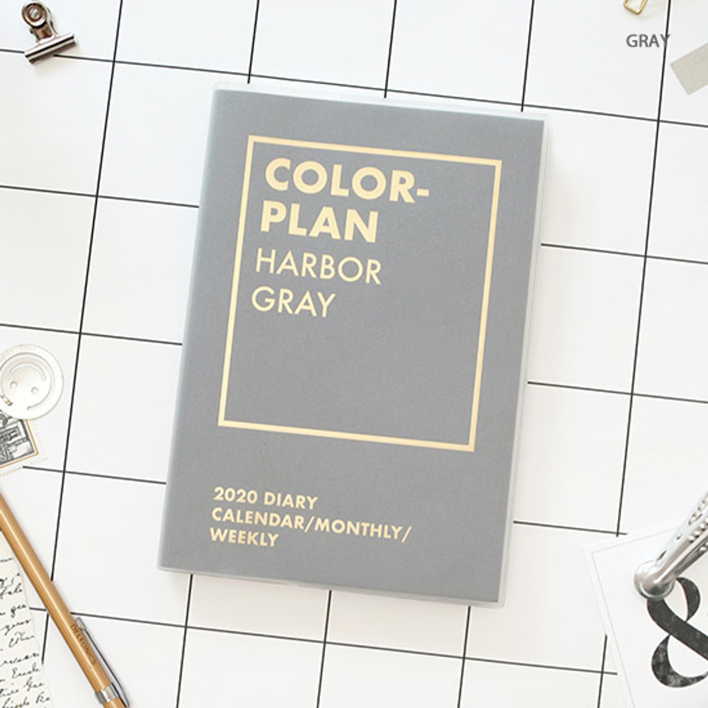 Gray - PAPERIAN Colorful 2020 dated weekly planner scheduler
