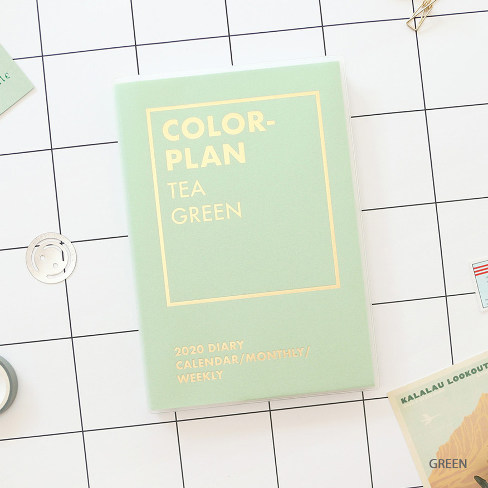 Green - PAPERIAN Colorful 2020 dated weekly planner scheduler