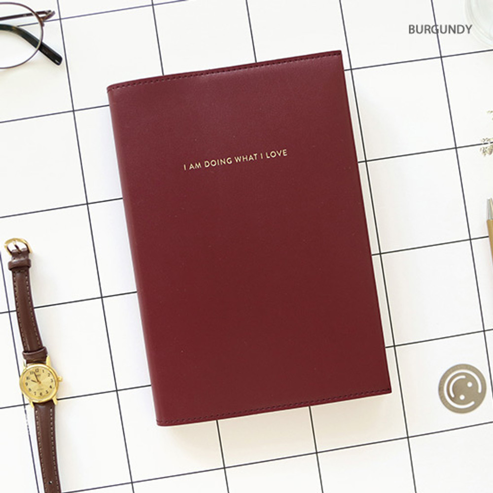 Burgundy - PAPERIAN 2020 I am doing what i love dated weekly planner