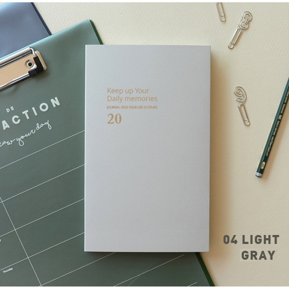 Light gray - Jam Studio 2020 One fine day dated weekly planner scheduler