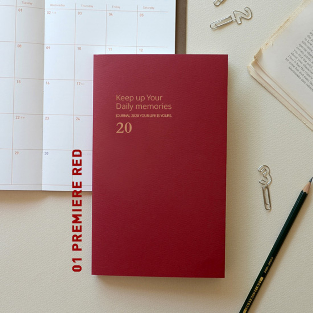 Premiere red - Jam Studio 2020 One fine day dated weekly planner scheduler