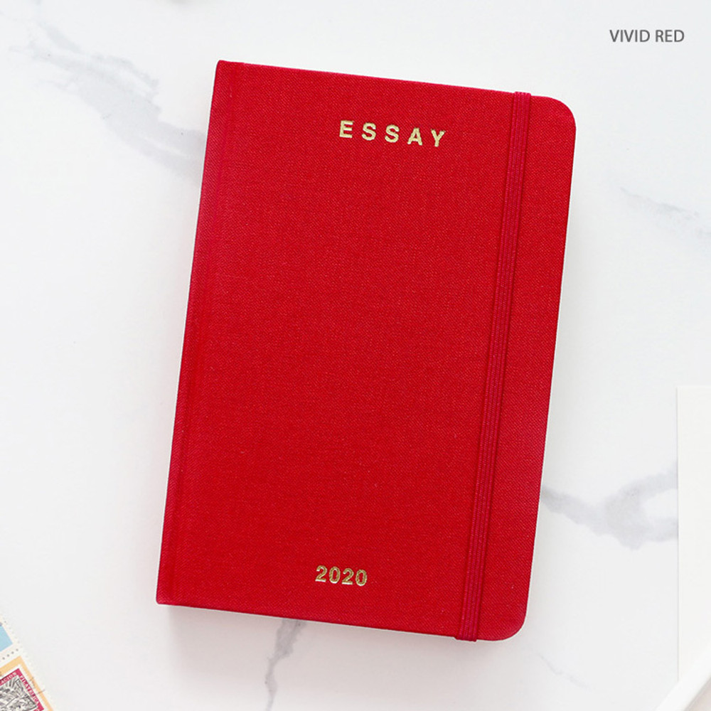 Vivid red - PAPERIAN 2020 Essay A6 hardcover dated weekly agenda planner