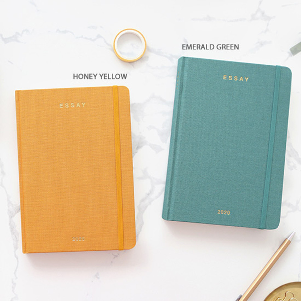 Emerald green - PAPERIAN 2020 Essay B6 hardcover dated weekly agenda planner