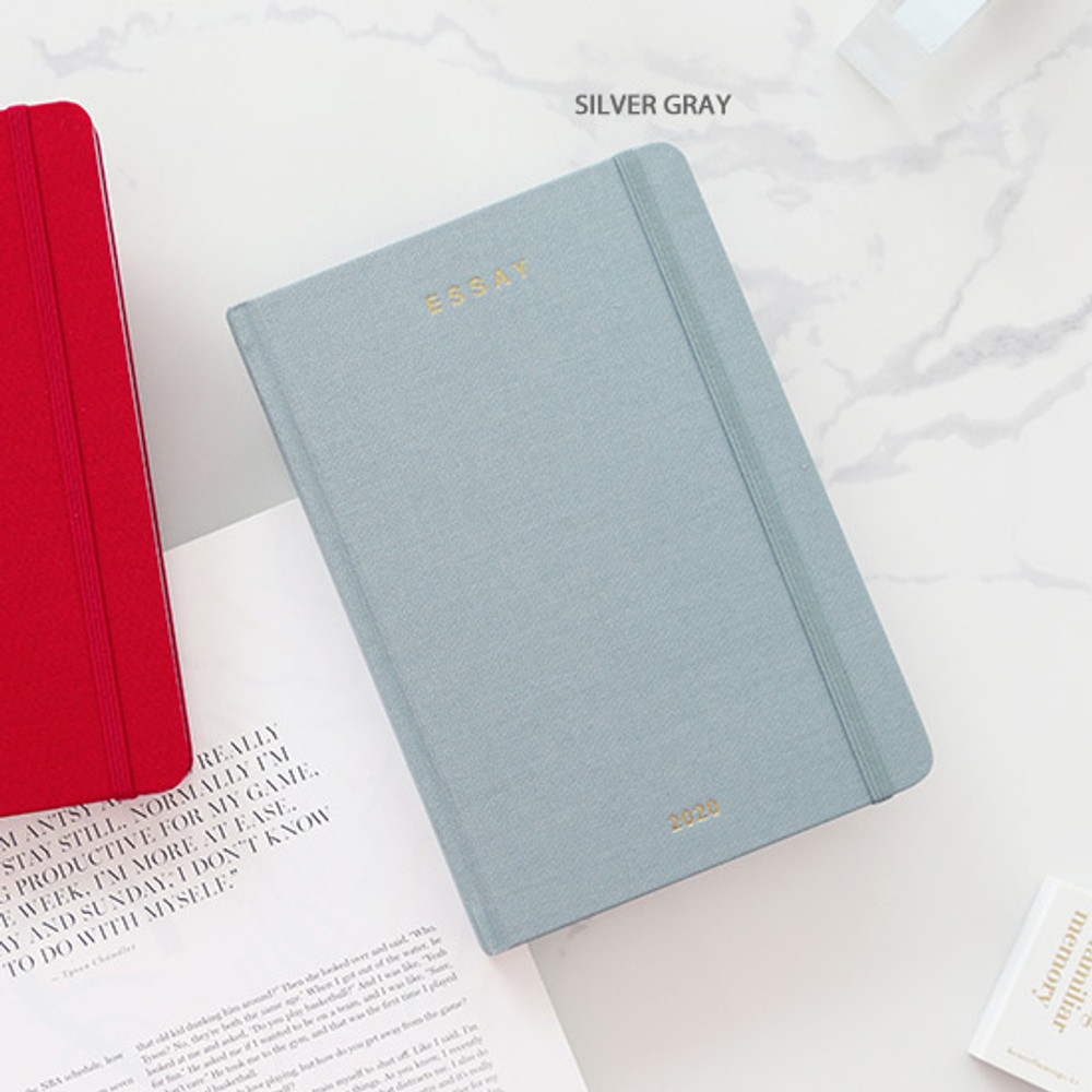 Silver gray - PAPERIAN 2020 Essay B6 hardcover dated weekly agenda planner