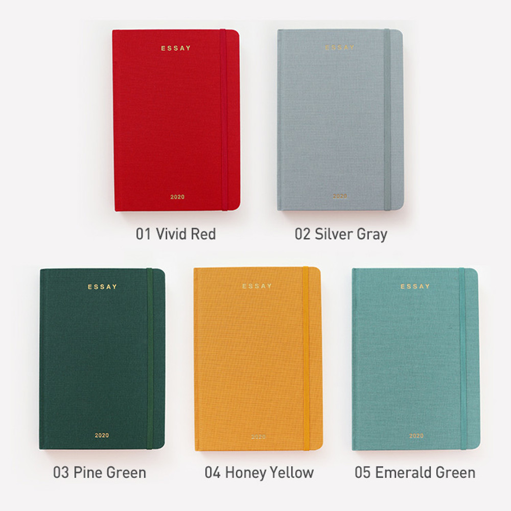 Color - PAPERIAN 2020 Essay B6 hardcover dated weekly agenda planner