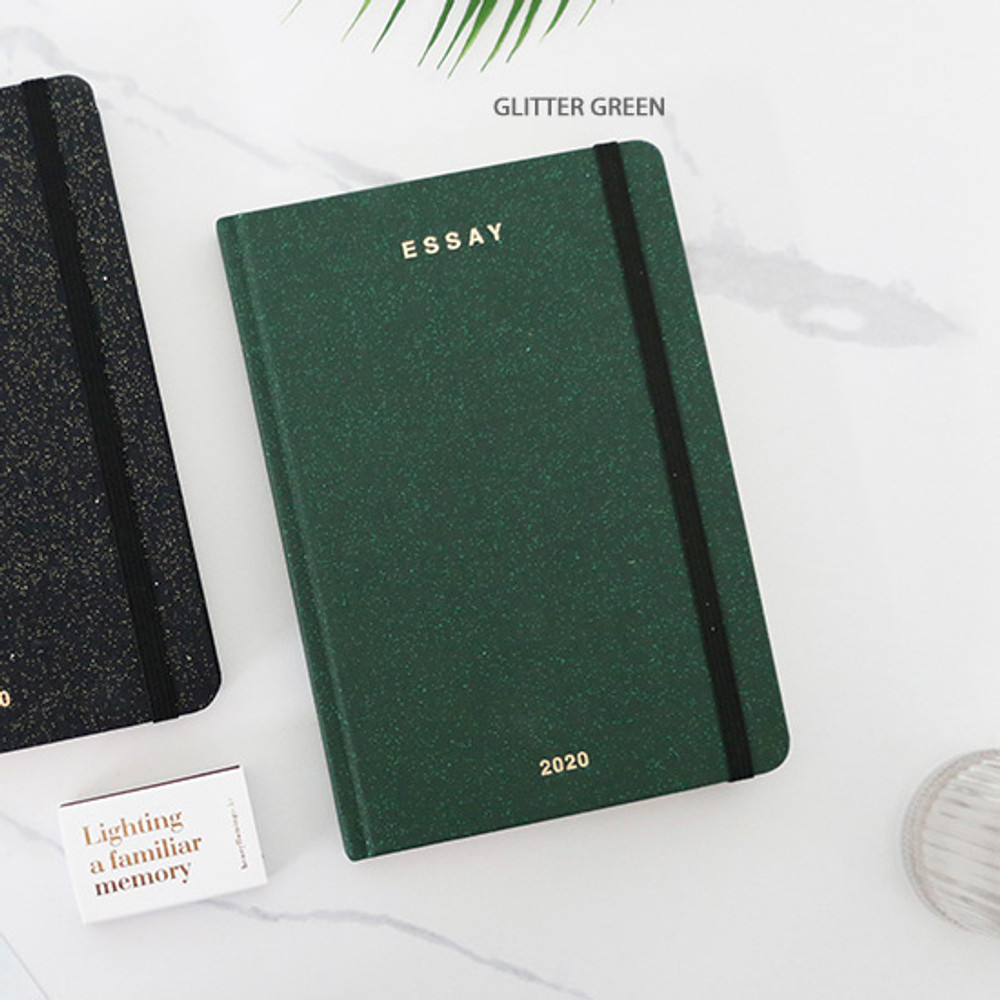 Glitter green - PAPERIAN 2020 Essay special B6 hardcover dated weekly agenda