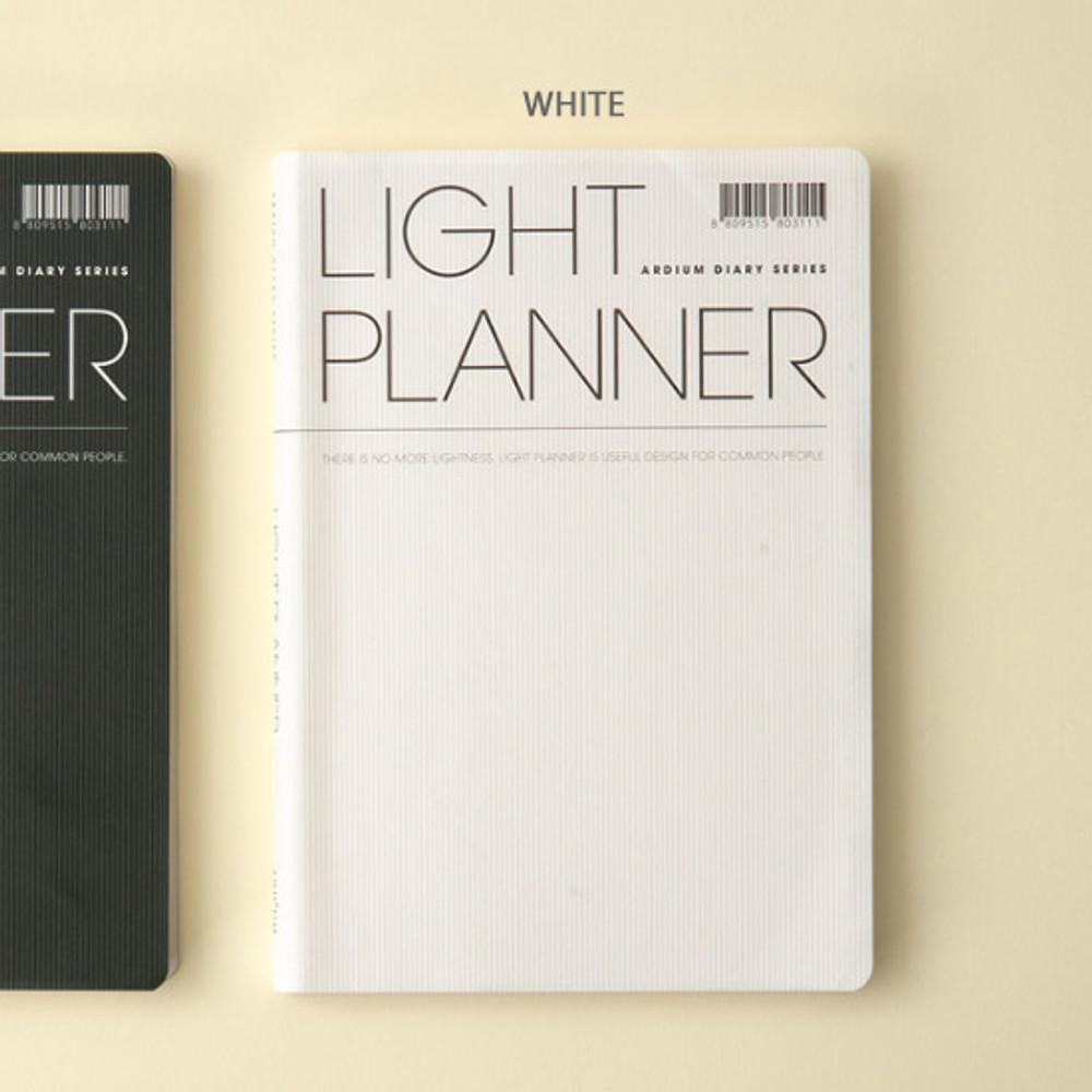 White - Ardium 2020 Light dated daily planner scheduler