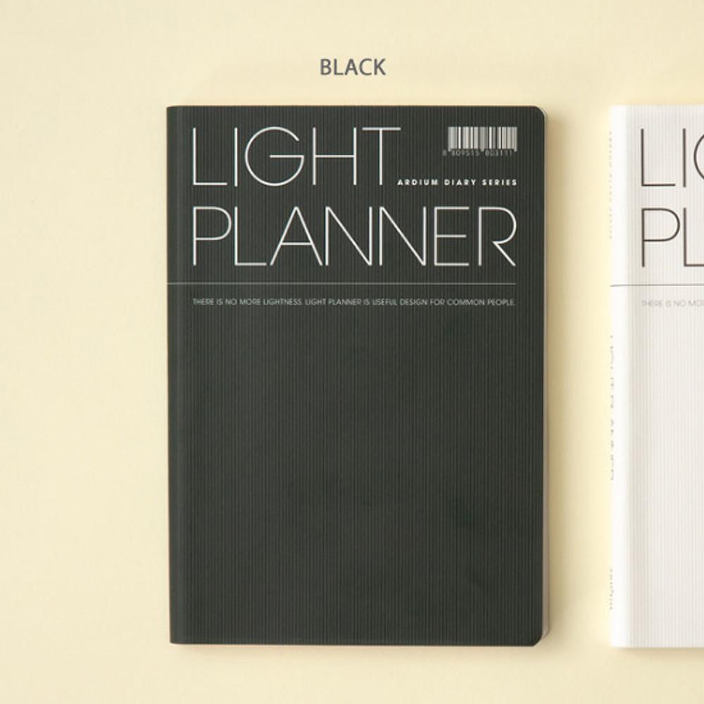Black - Ardium 2020 Light dated daily planner scheduler