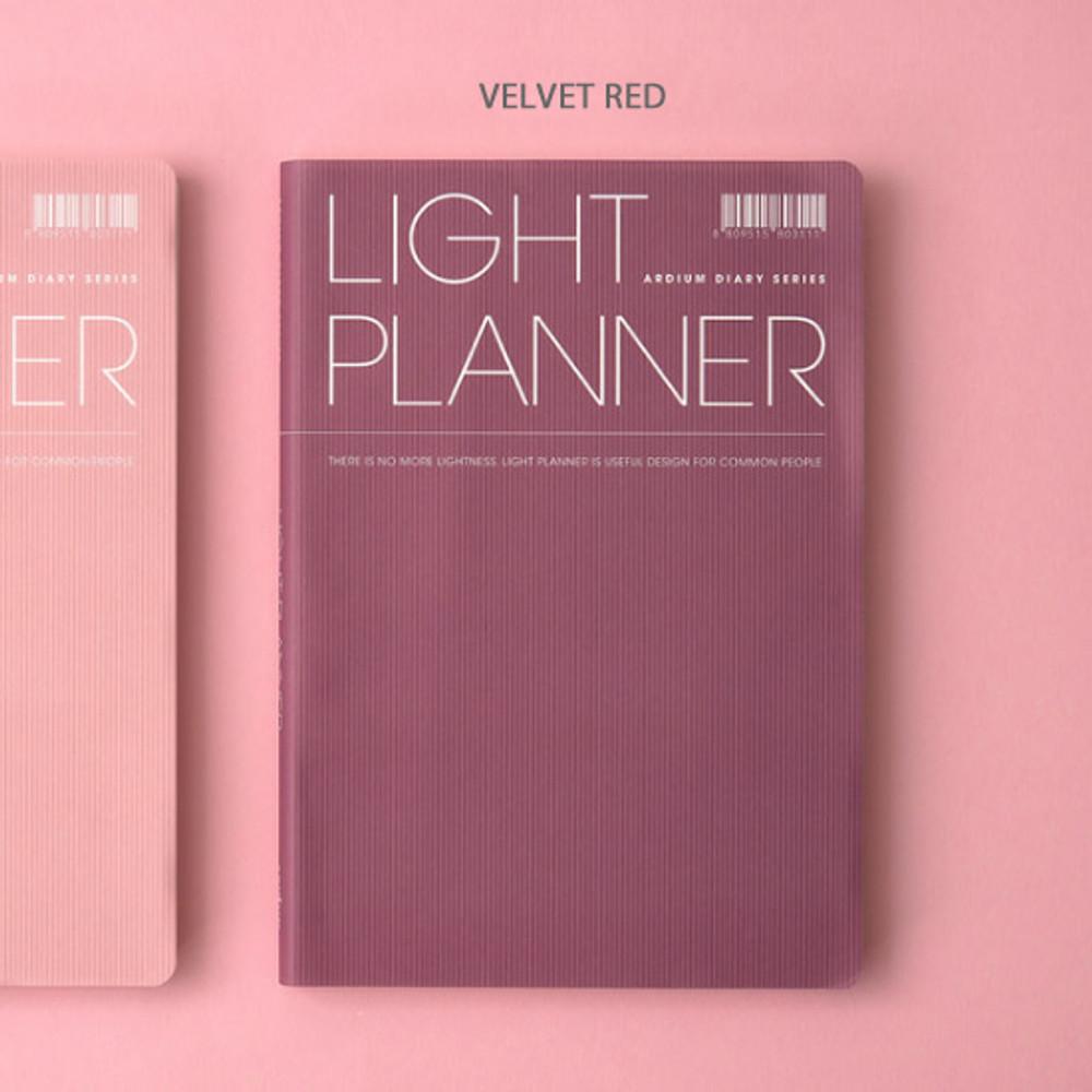 Velvet red - Ardium 2020 Light dated daily planner scheduler