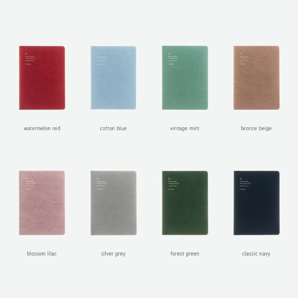 Colors of 2020 Notable memory B5 dated weekly planner