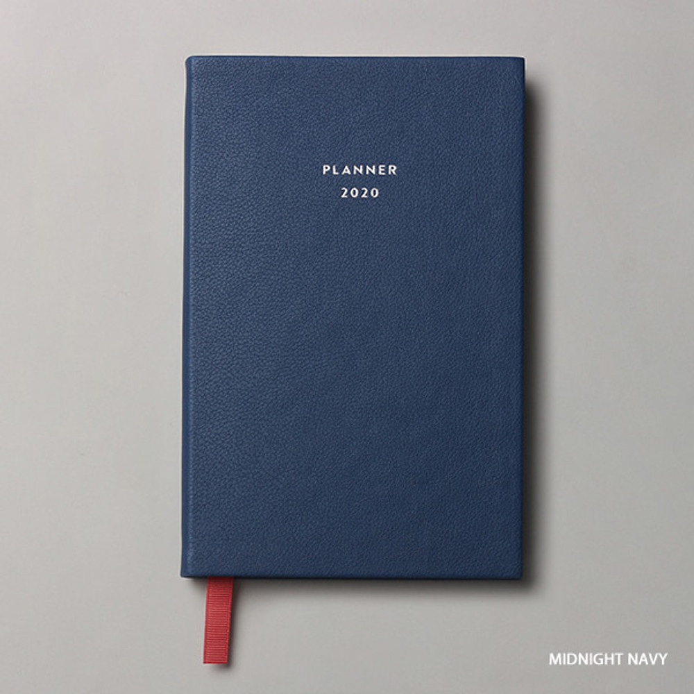 Midnight navy - Dash And Dot 2020 red bookmark small dated weekly planner