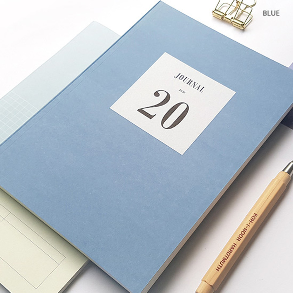 Blue - O-CHECK 2020 Simple and basic A5 dated weekly planner