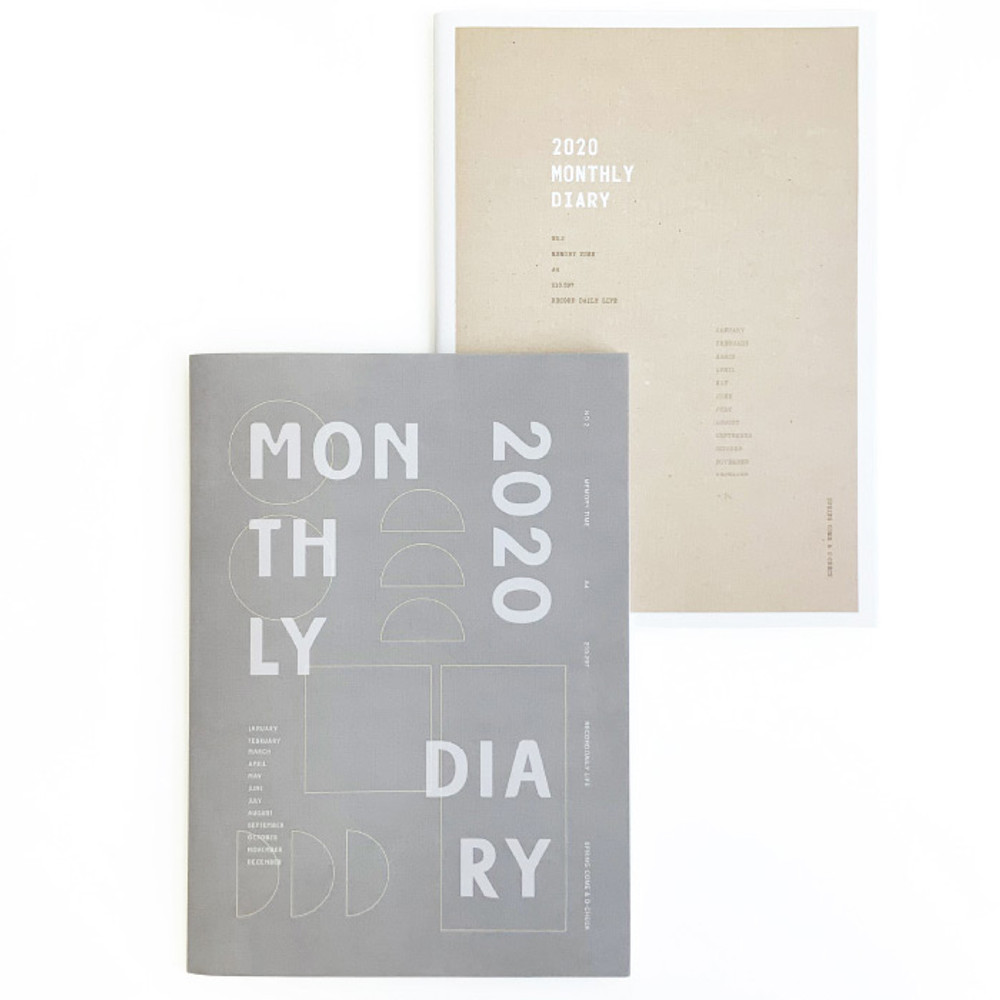O-CHECK 2020 Spring come A4 dated monthly planner