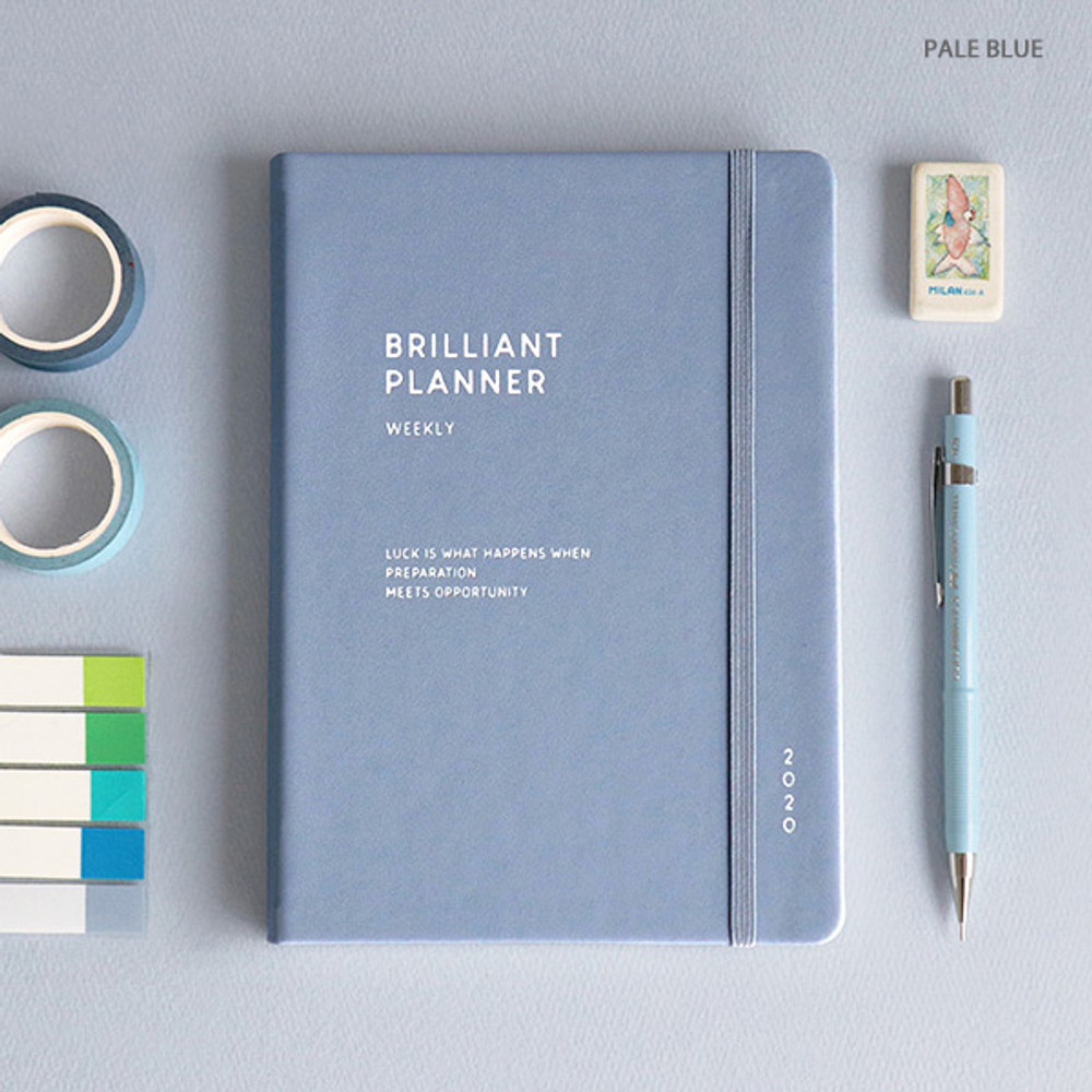 Pale blue - ICONIC 2020 Brilliant dated weekly planner scheduler