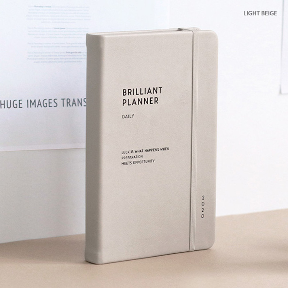 Light beige - ICONIC 2020 Brilliant dated daily planner scheduler