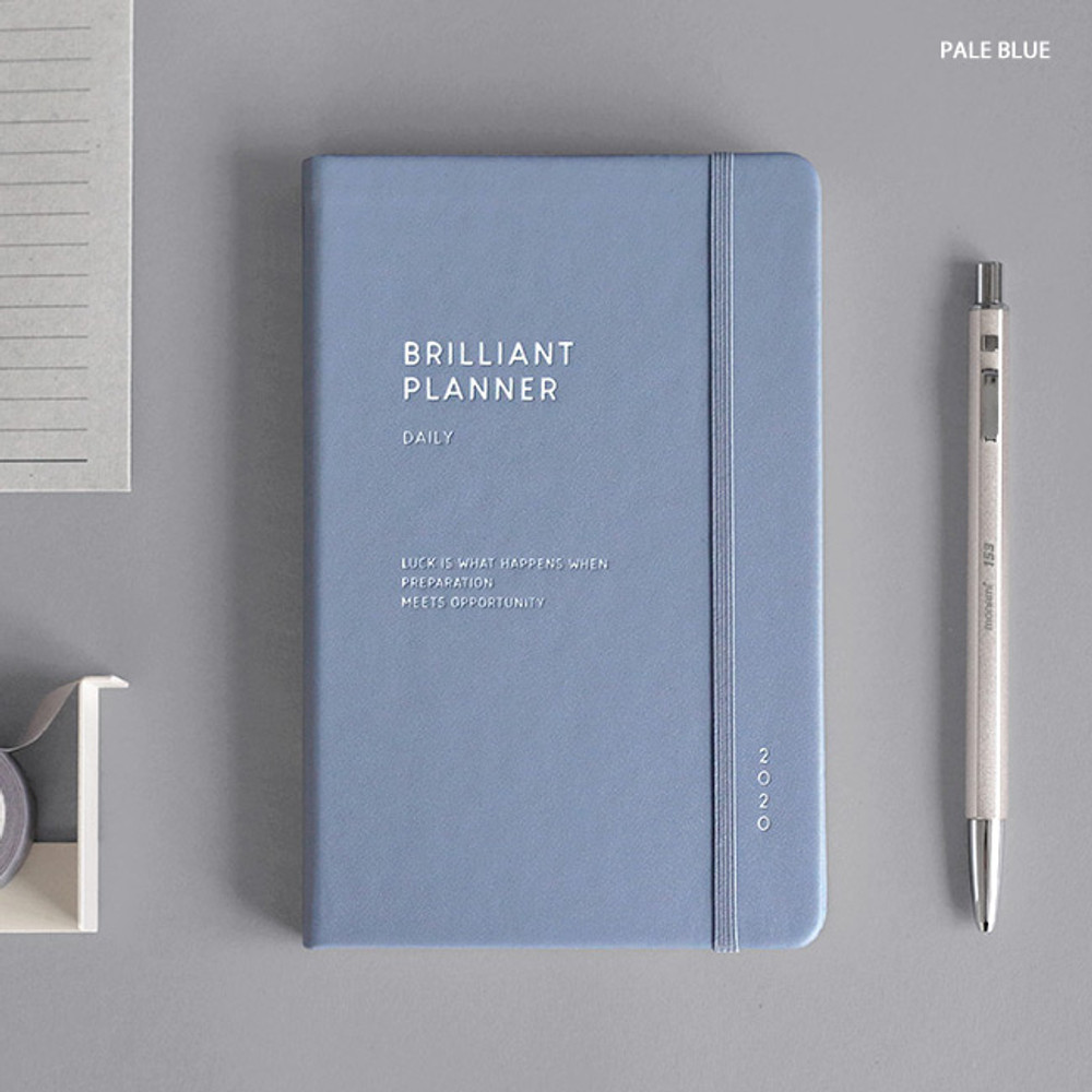 Pale blue - ICONIC 2020 Brilliant dated daily planner scheduler