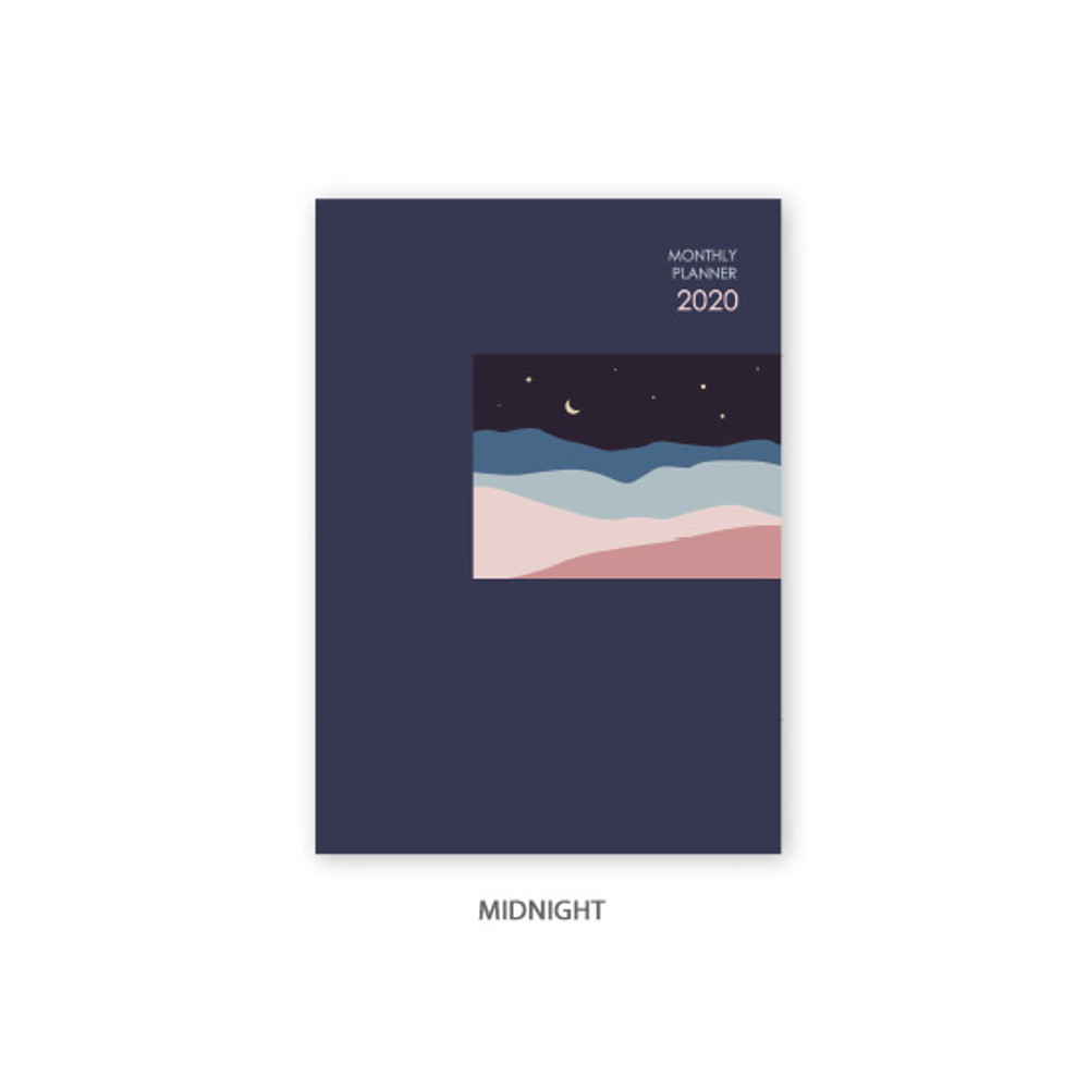 Midnight - O-CHECK 2020 Spring come dated monthly planner scheduler