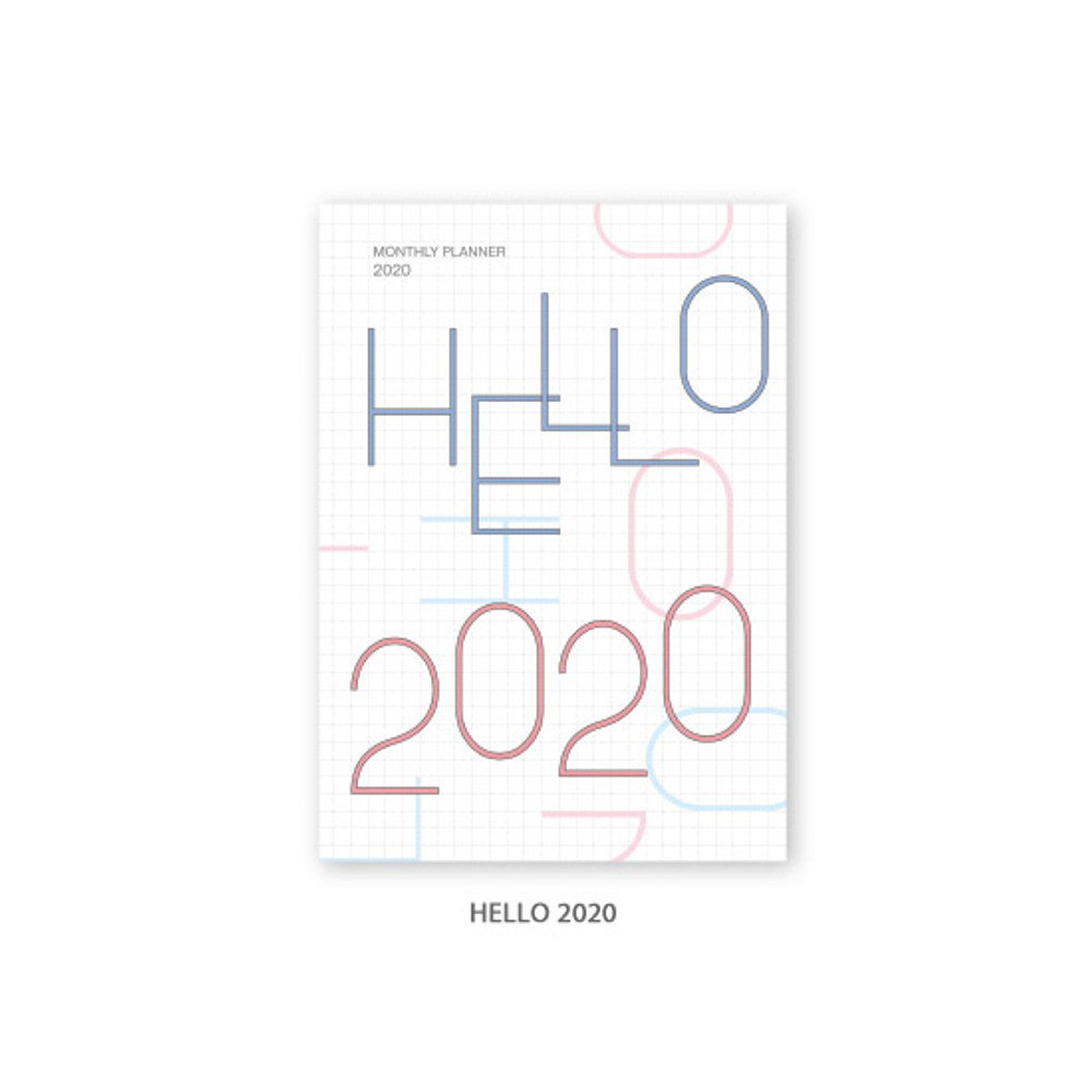 Hello 2020 - O-CHECK 2020 Spring come dated monthly planner scheduler