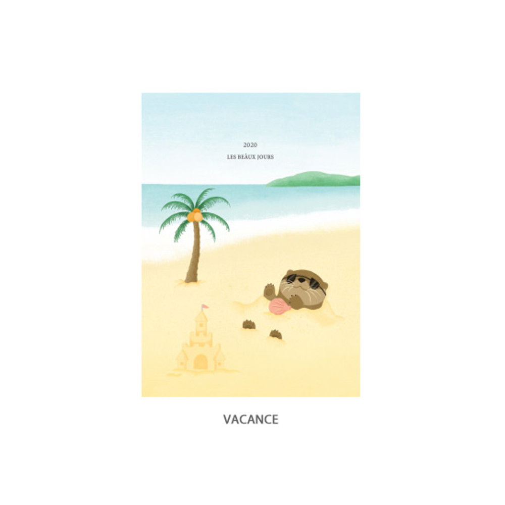 Vacance - O-CHECK 2020 Les beaux jours dated weekly diary planner