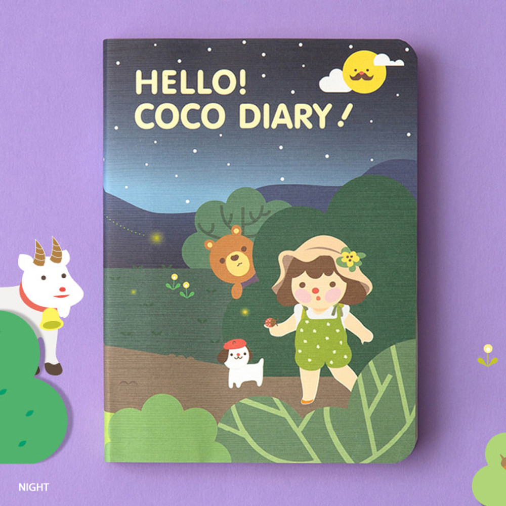 Night - Ardium 2020 Hello coco dated weekly diary planner