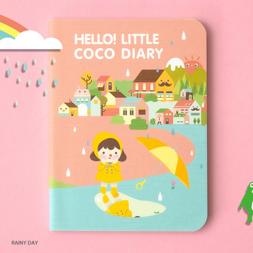 Rainy day - Ardium 2020 Hello little coco dated monthly diary planner
