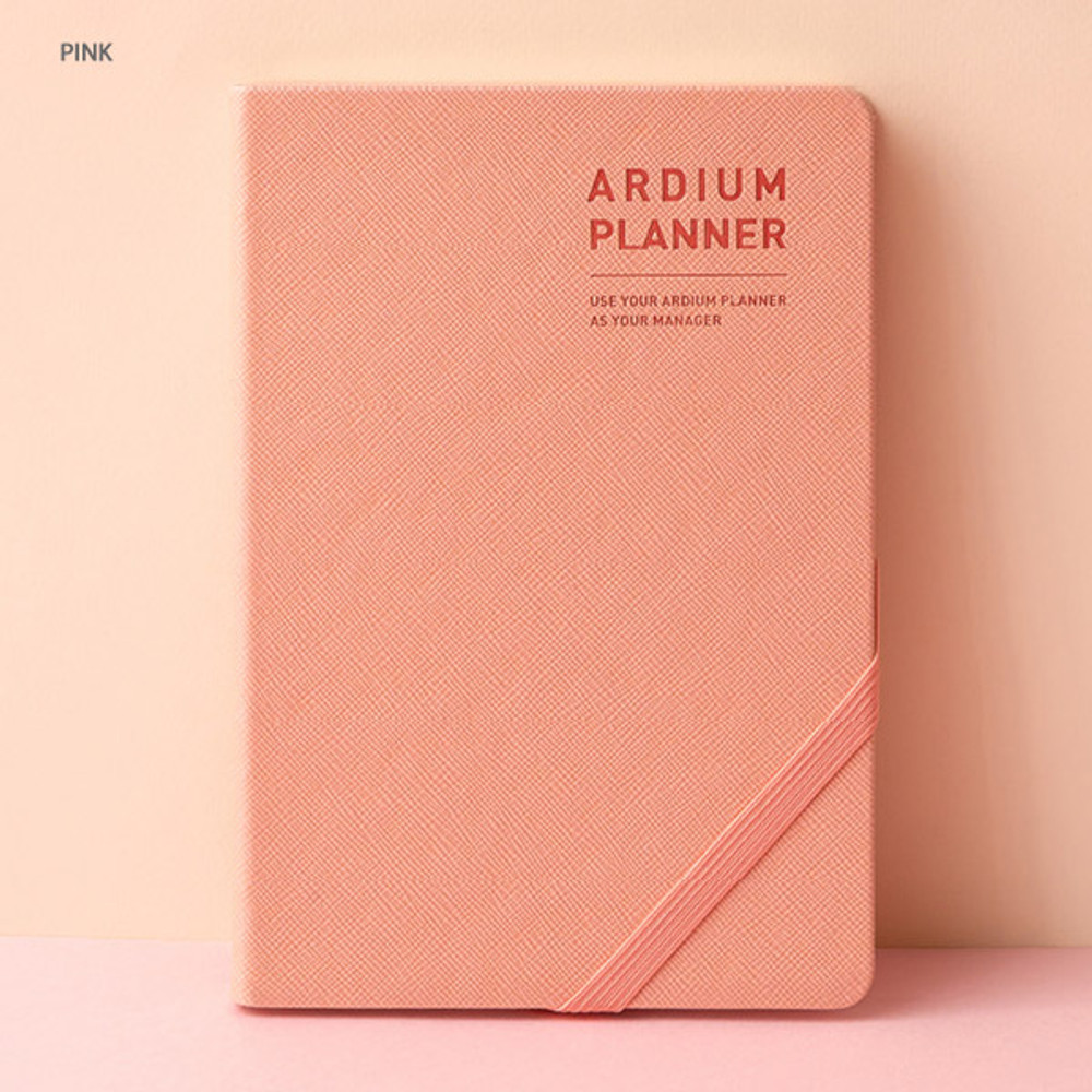 Pink - Ardium 2020 Simple medium dated weekly diary planner