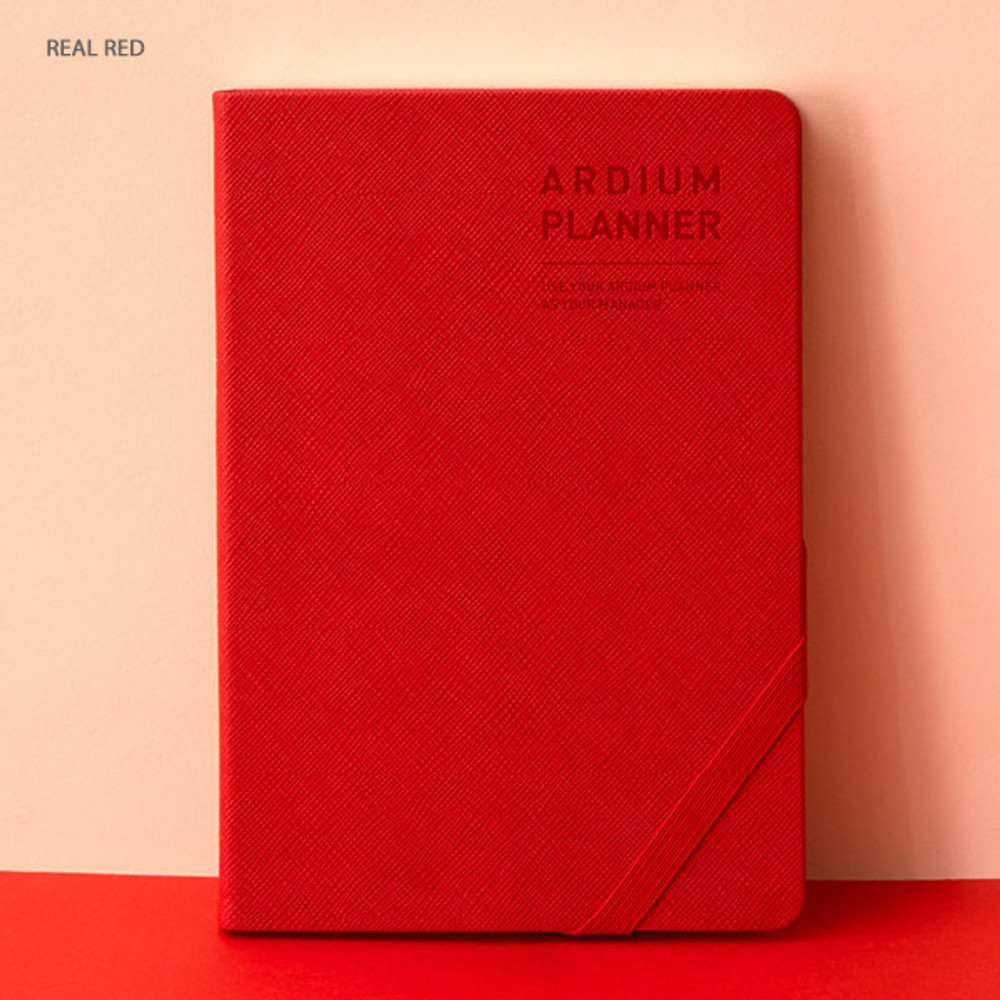 Real red - Ardium 2020 Simple medium dated weekly diary planner