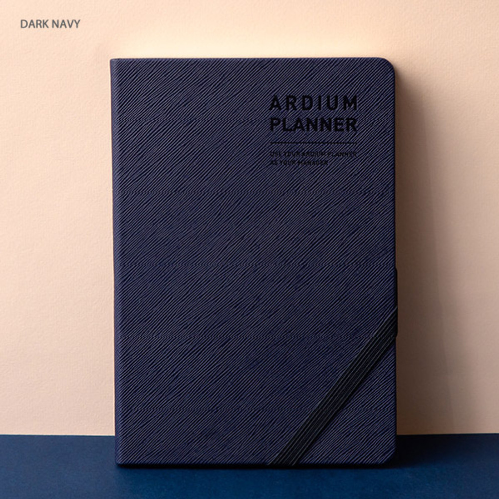 Dark navy - Ardium 2020 Simple medium dated weekly diary planner