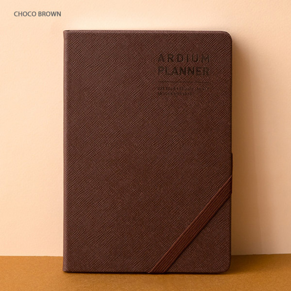 Choco brown - Ardium 2020 Simple medium dated weekly diary planner