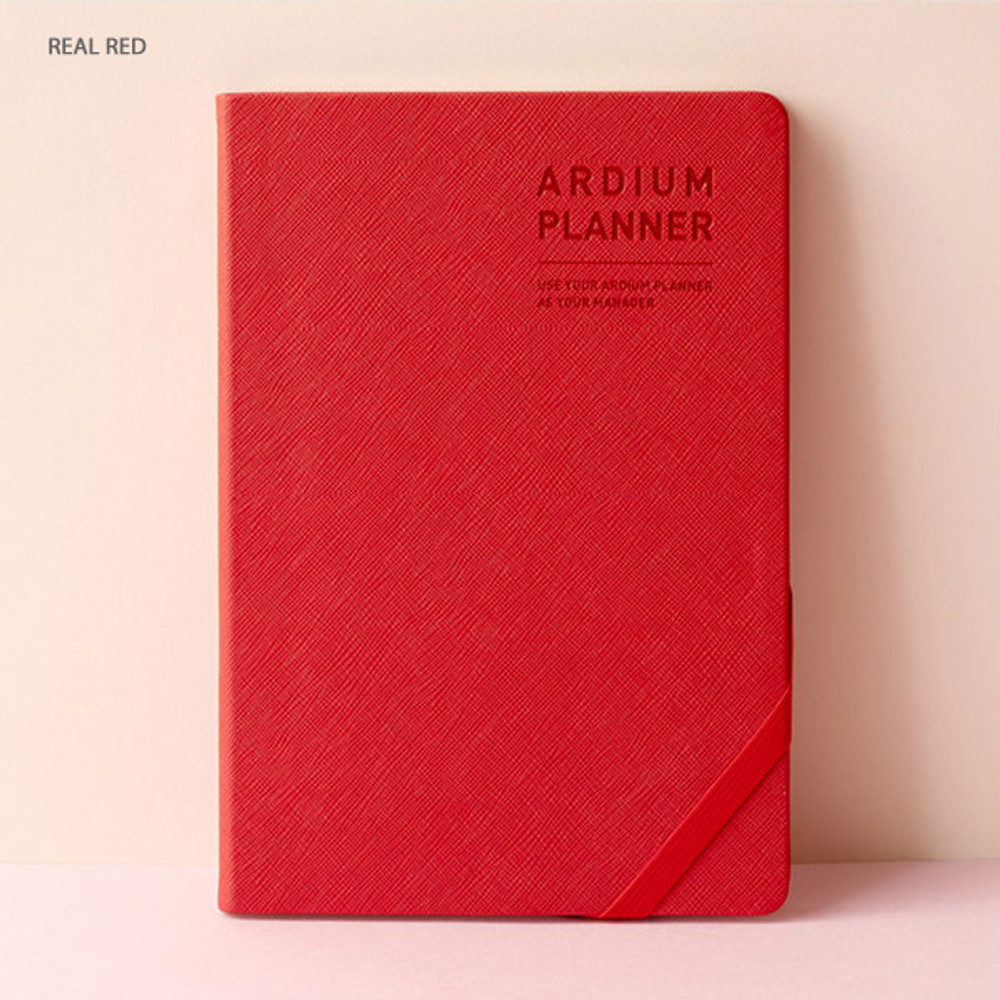 Real red - Ardium 2020 Simple large dated weekly diary planner