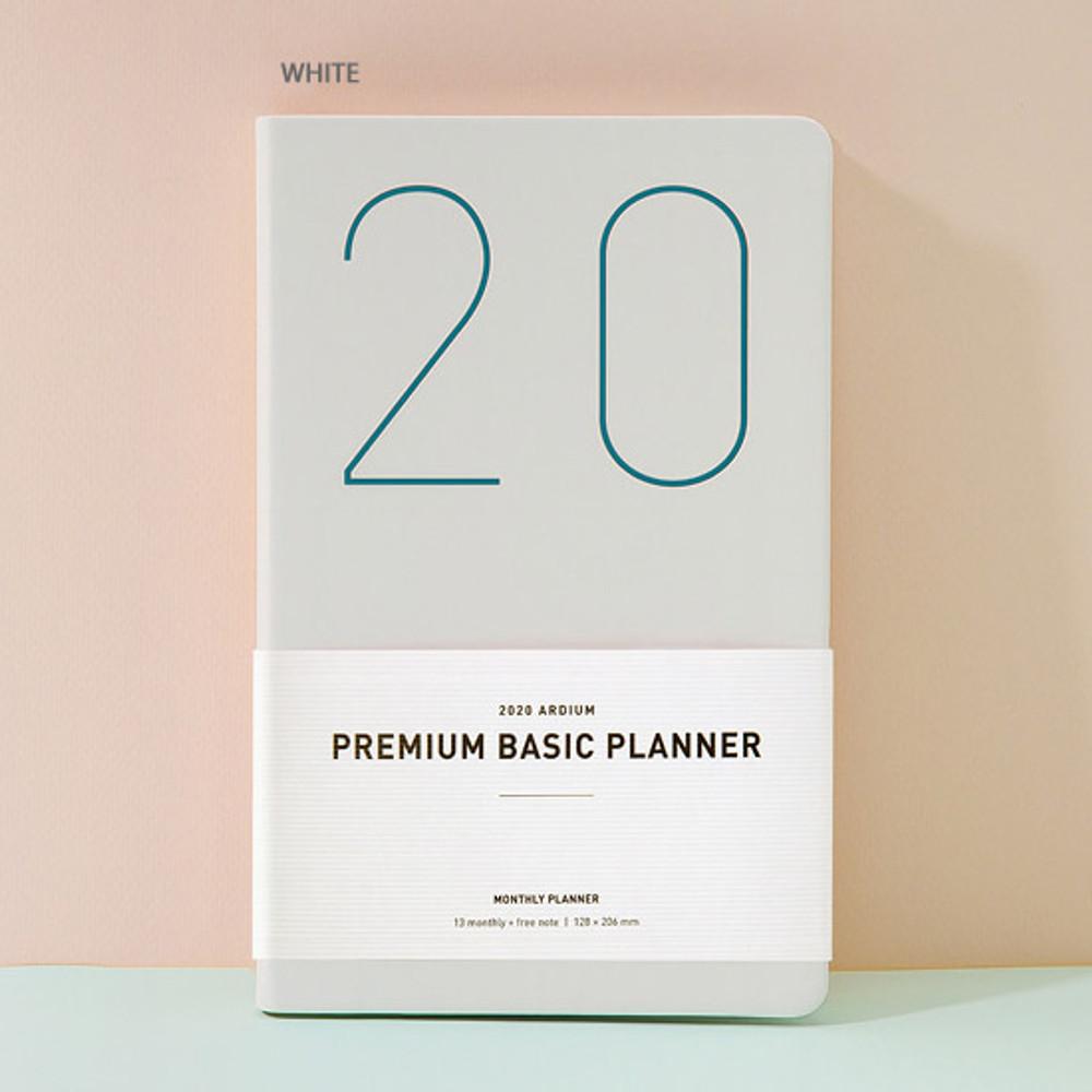White - Ardium 2020 Premium basic dated monthly diary planner