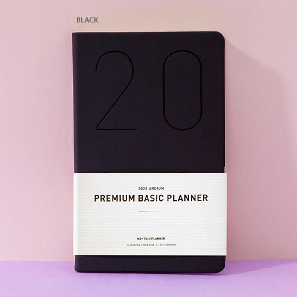 Black - Ardium 2020 Premium basic dated monthly diary planner