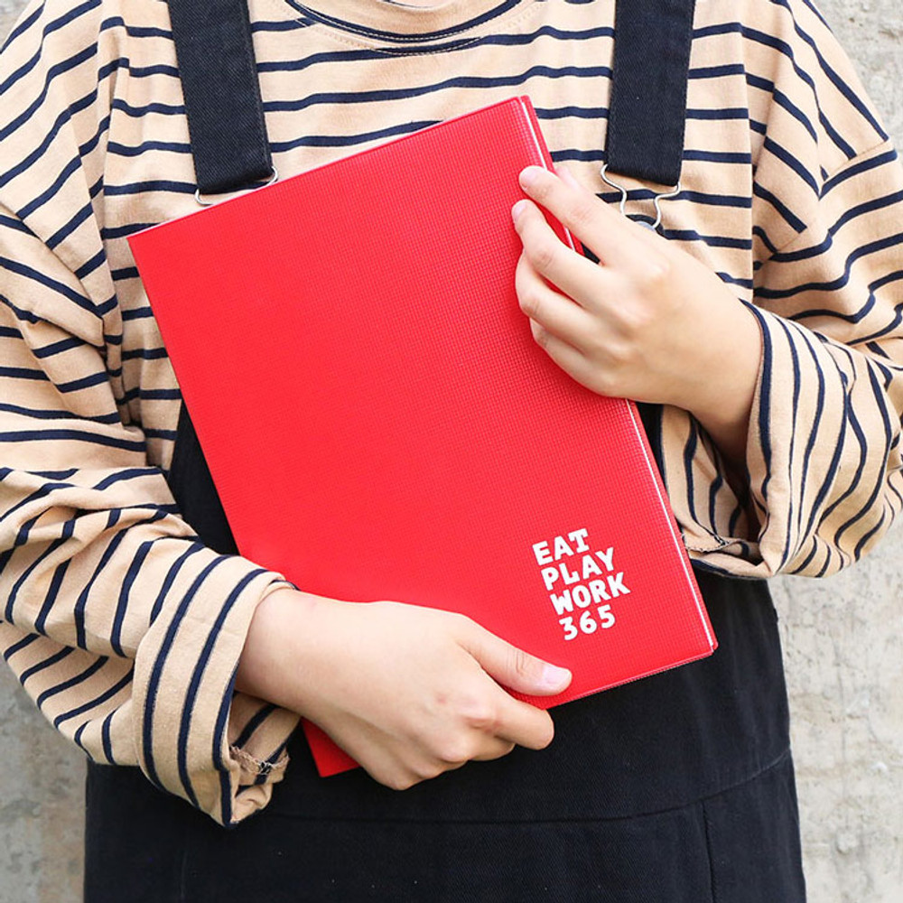 Red - Romane 2020 Workaholic 365 dated weekly diary planner