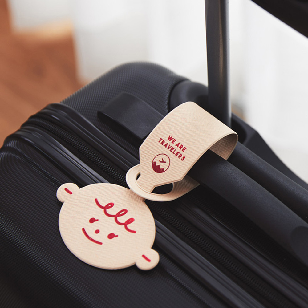 Pink - Gyou Girl and boy travel luggage name tag