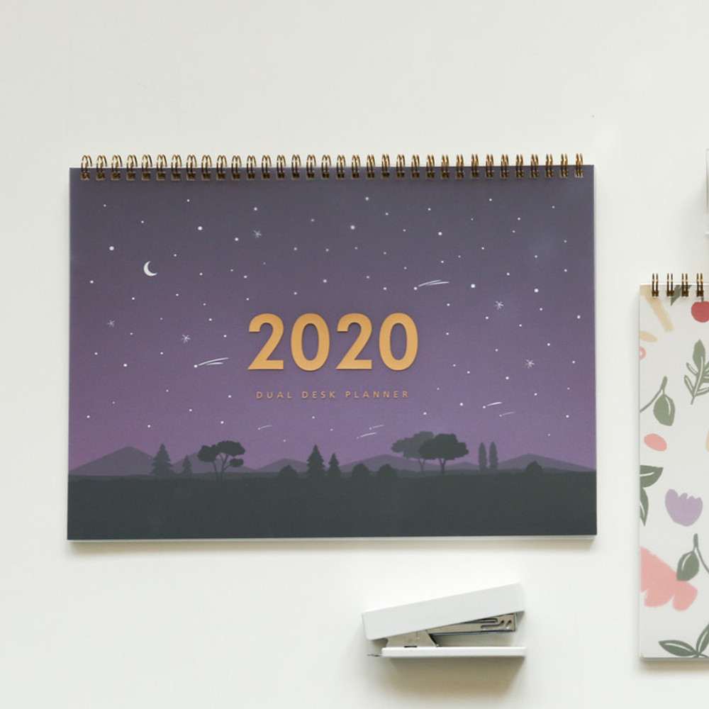 Shooting star - Dailylike 2020 Dual A4 dated monthly desk planner scheduler