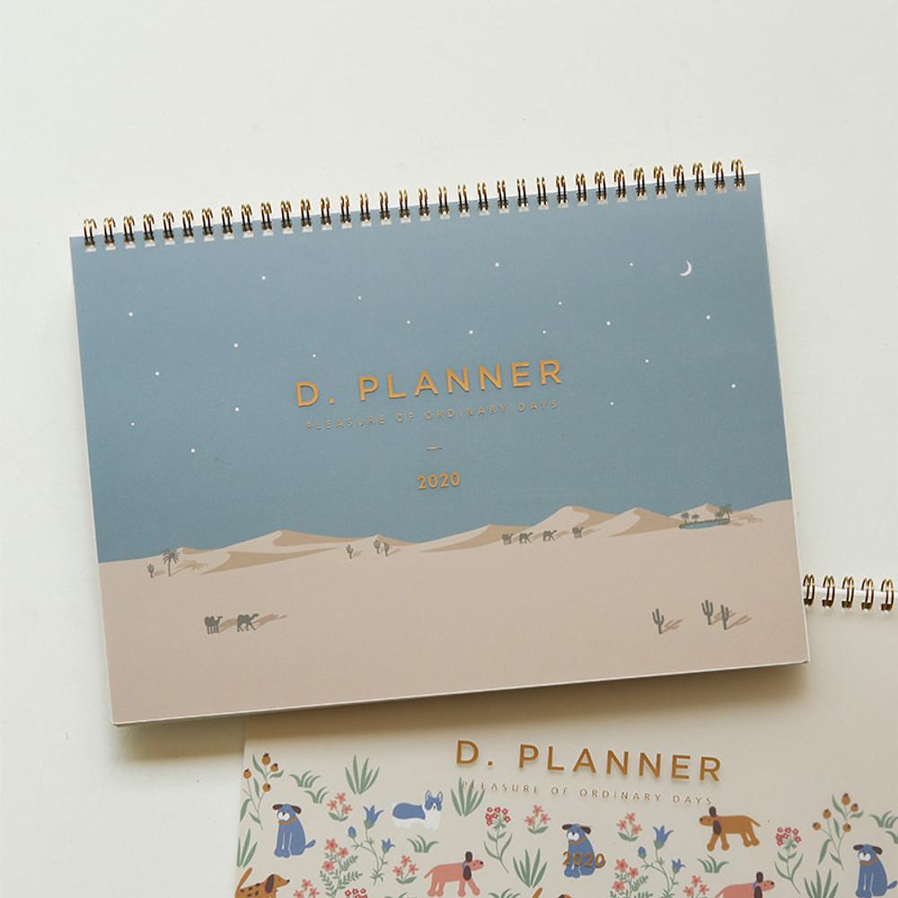 Desert - 2020 D point A4 dated monthly desk planner scheduler