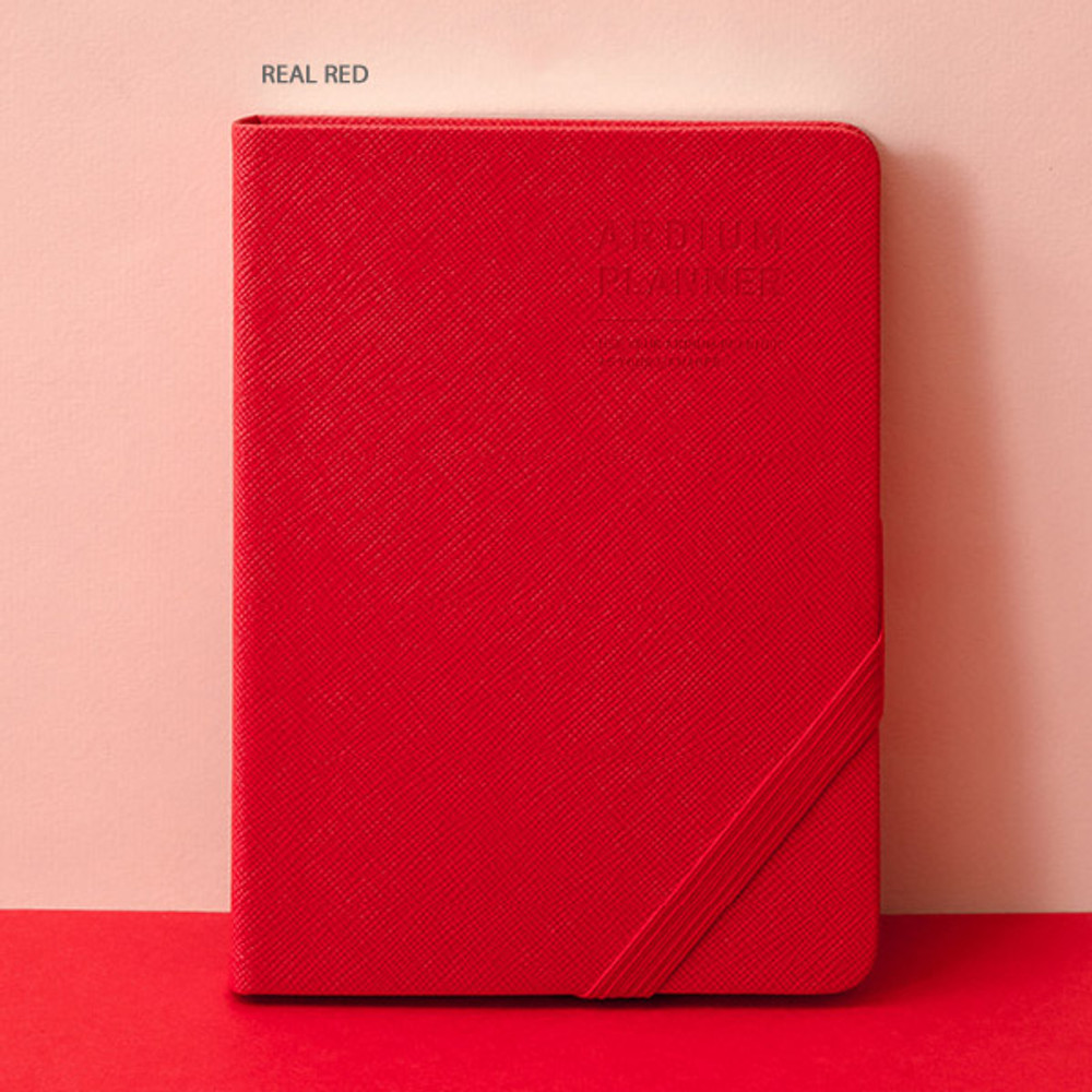 Real red - Ardium 2020 Simple small dated weekly diary planner