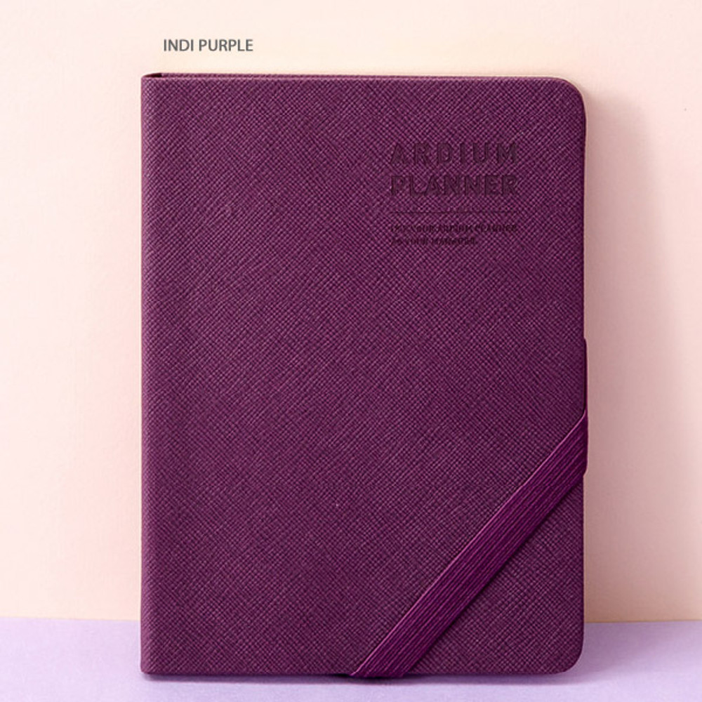 Indi purple - Ardium 2020 Simple small dated weekly diary planner