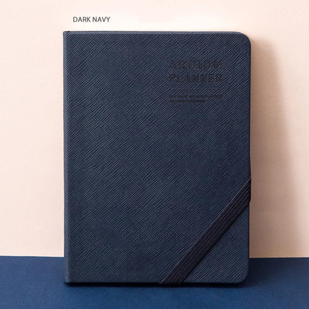 Dark navy - Ardium 2020 Simple small dated weekly diary planner