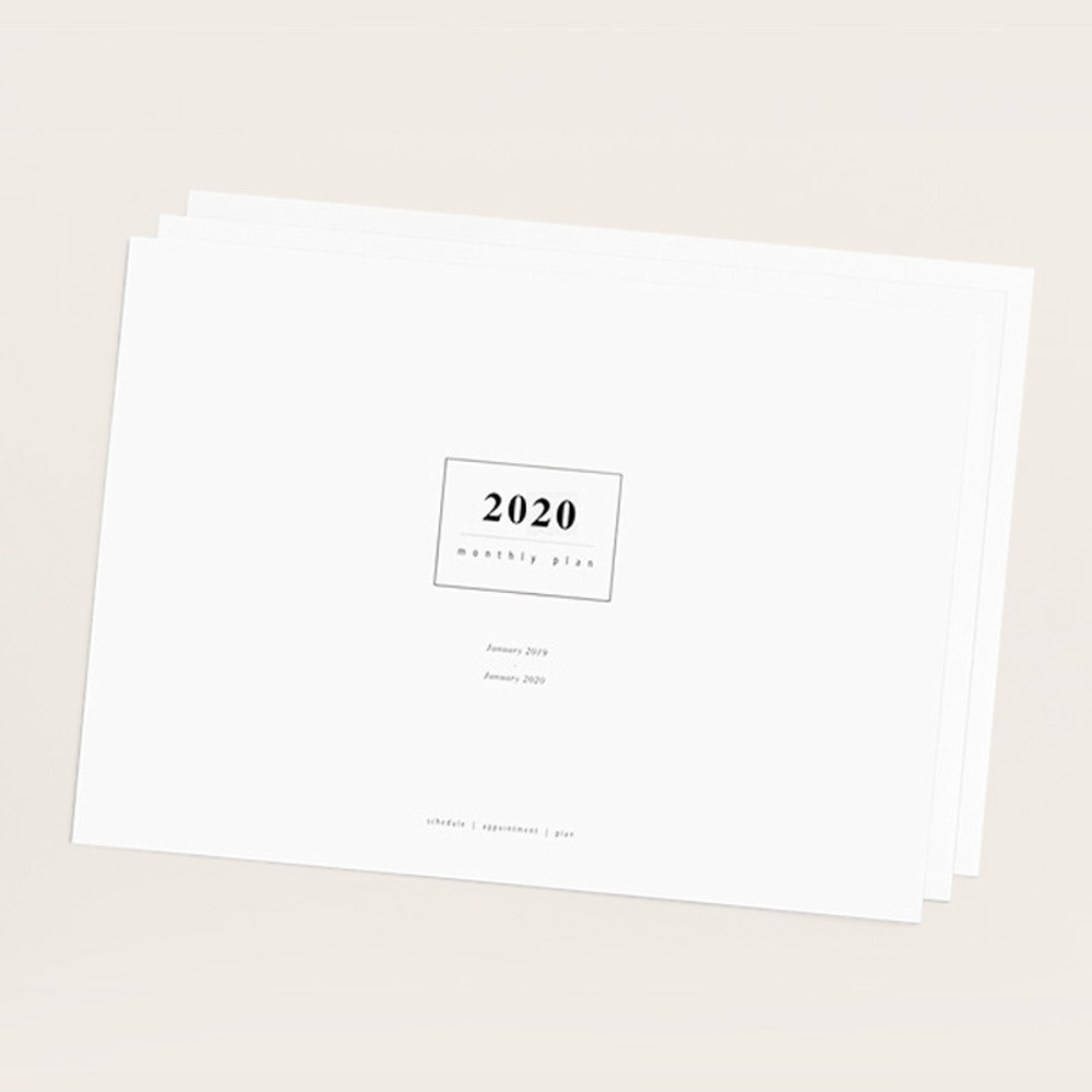 gyou 2020 A tous moments dated monthly desk planner sheets