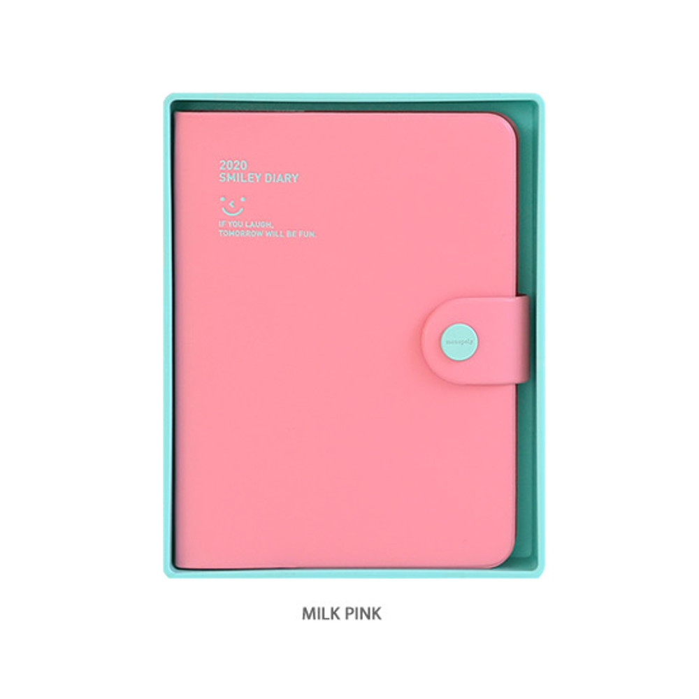 Milk pink - Monopoly 2020 Smiley dated daily diary with tray
