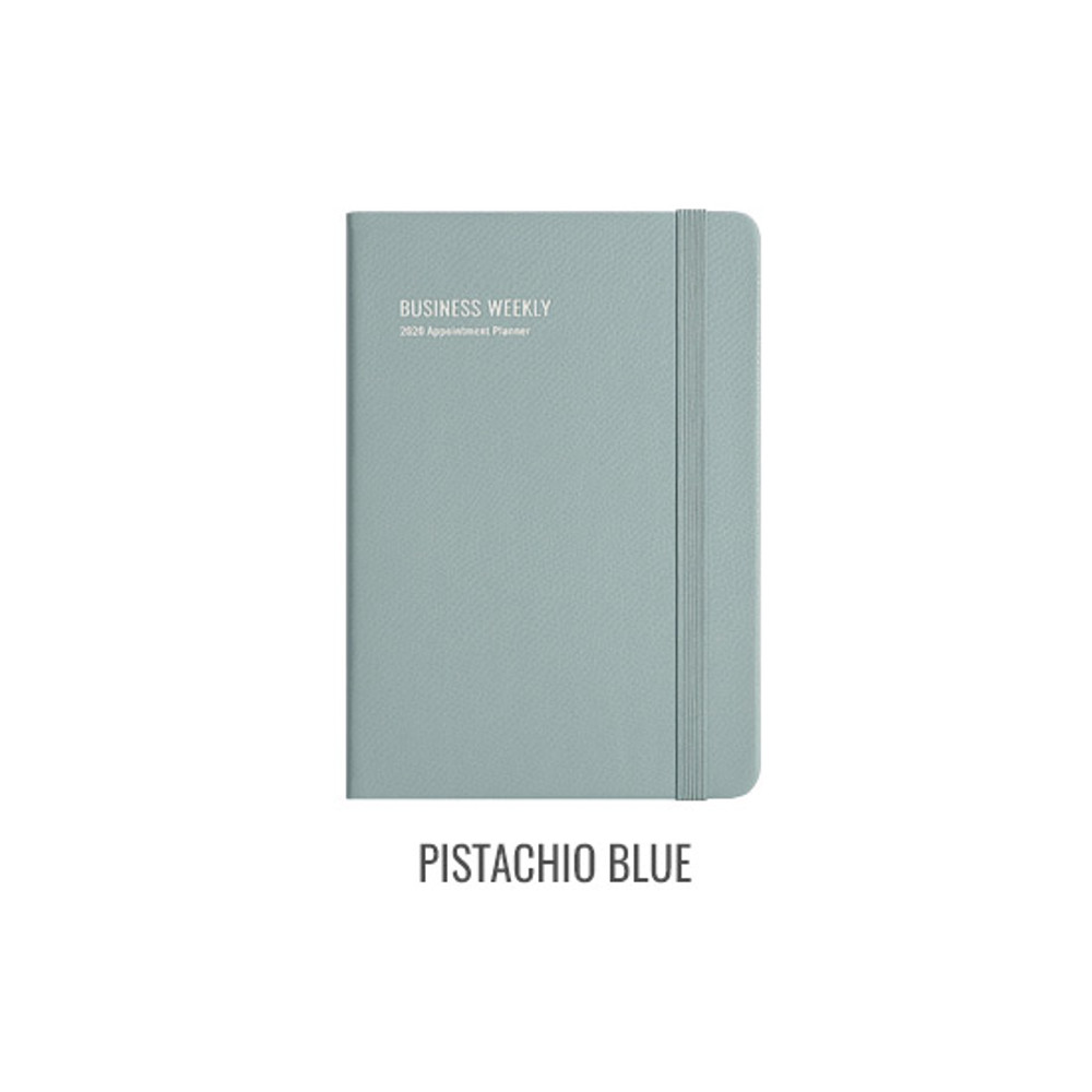 Pistachio blue - Monopoly 2020 Appointment B6 business dated weekly planner