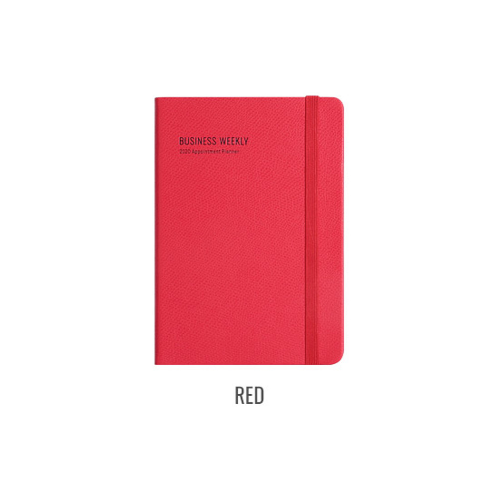 Red - Monopoly 2020 Appointment B6 business dated weekly planner