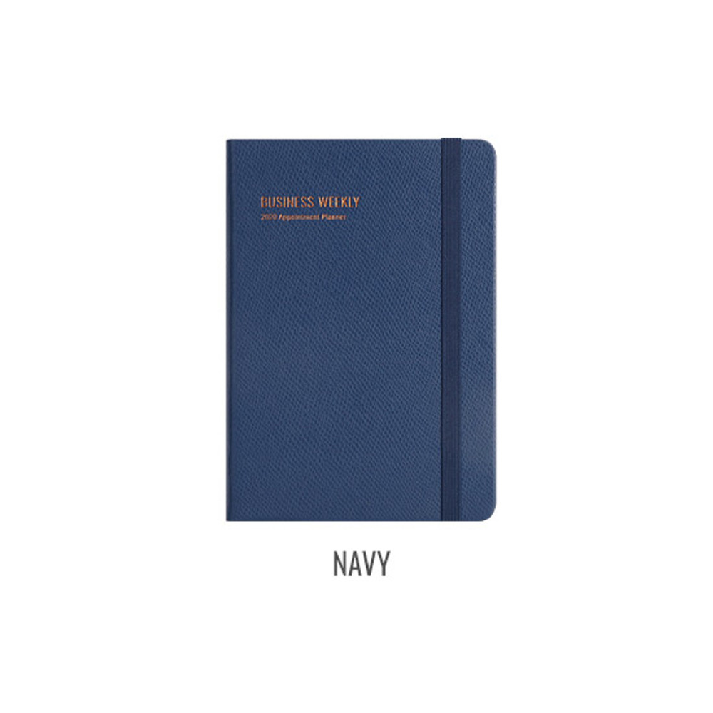 Navy - Monopoly 2020 Appointment B6 business dated weekly planner