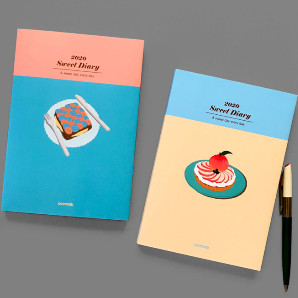 Design Comma-B 2020 Sweet dessert dated weekly diary planner