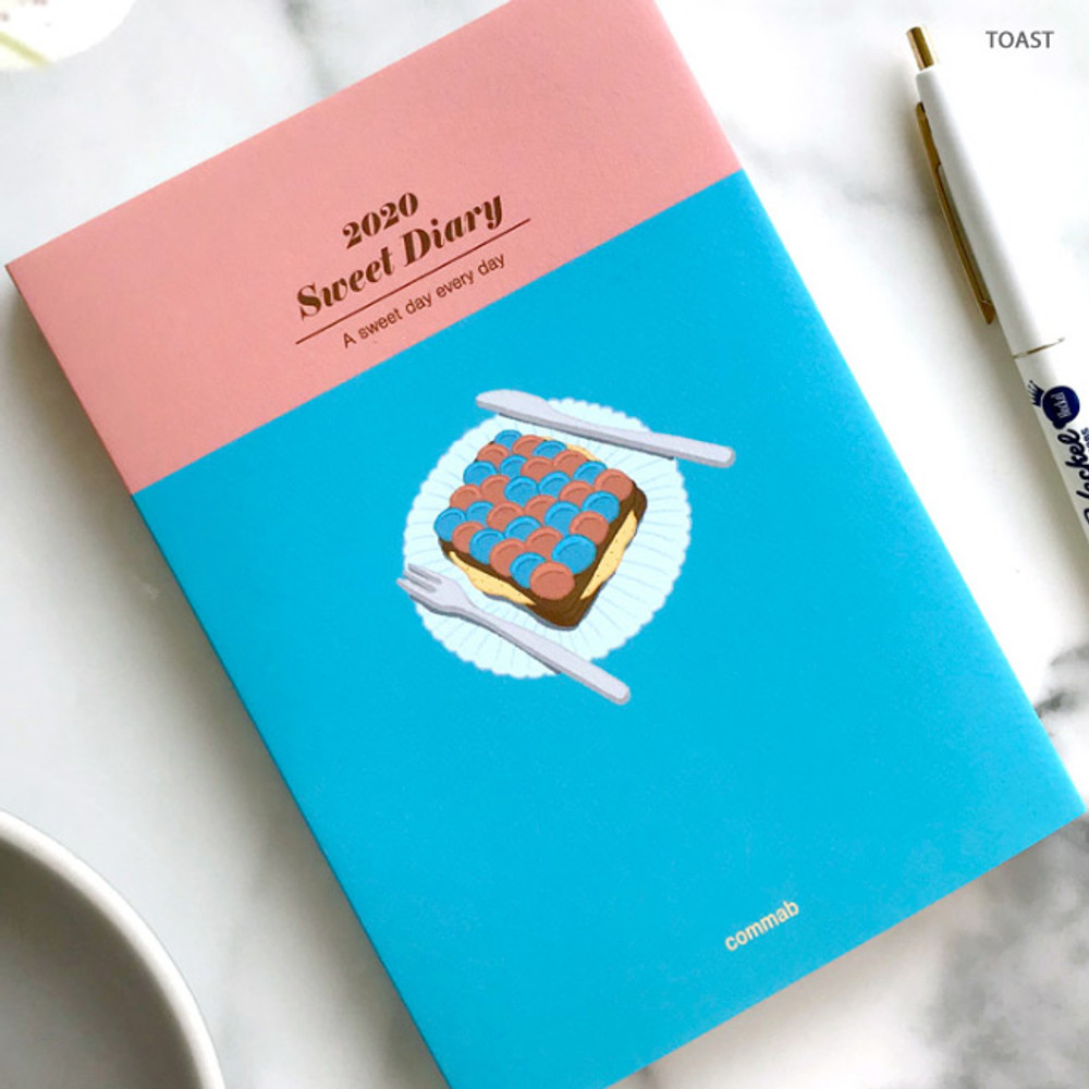 Toast - Design Comma-B 2020 Sweet dessert dated weekly diary planner