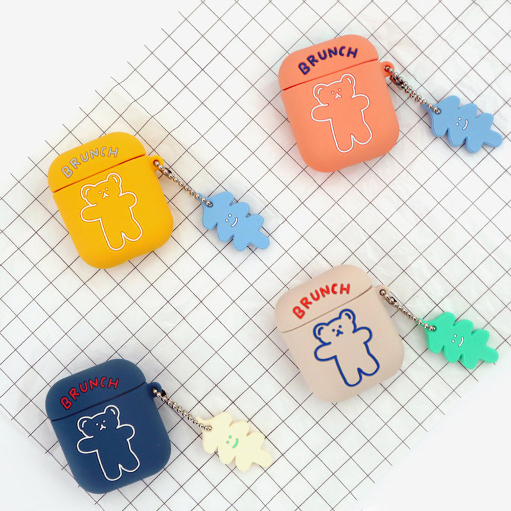Bear basic AirPods case silicone cover