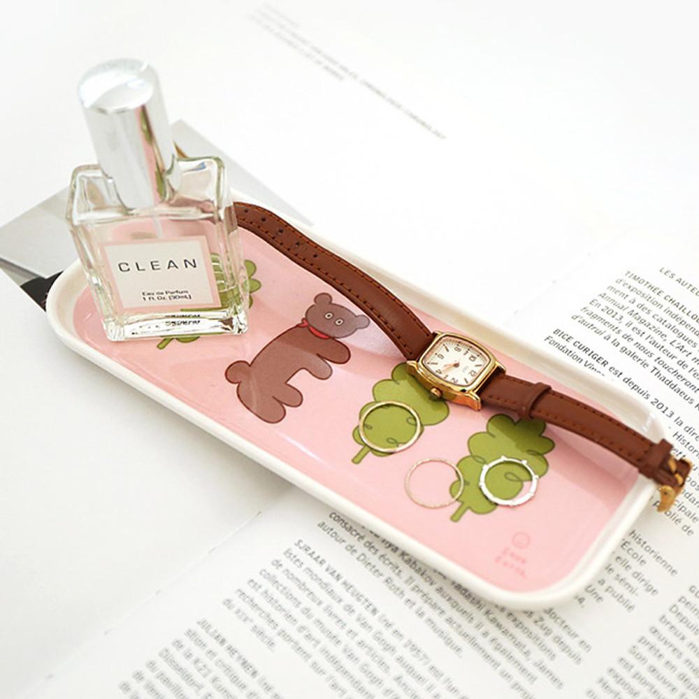 Bear - Romane Long and round melamine desk tray